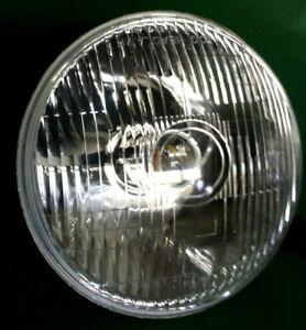 "2 x LED CLASSIC 7"" PROJECTOR HEADLAMPS - HOT ROD-CUSTOM-STREET- CURVED RIB GLASS"