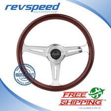 Luisi Italy Vintage Steering Wheel Montecarlo 390mm Wood Polished Spokes Genuine