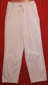 Women's SCRUBS Elastic Waist Medical Apparel Uniform Pants Pink Size S