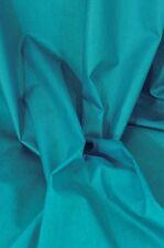 Baumwollstoff beschichtet - Luisa - uni - türkis leicht glänzend