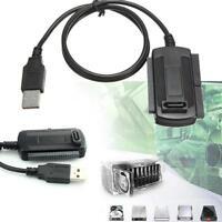 USB 2.0 for 2.5 3.5 Hard Drive Festplatten -HDD SATA Konverter-Adapter IDE^