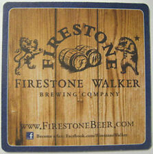 FIRESTONE WALKER BREWING, PASSION, Beer COASTER, Mat w/ Lion & Bear, CALIFORNIA
