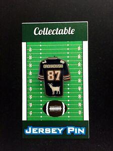 New England Patriots Rob Gronkowski jersey lapel pin-Gridiron GOAT-aka GRONK