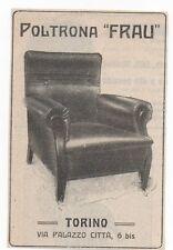 Pubblicità vintage POLTRONA FRAU TORINO ITALY reklame advert werbung publicitè