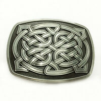 Celtic Metal Filled Belt Buckle Man Hiphop For Black For Leather Belt Buckle