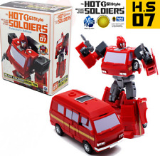 Hot Soldiers HS07 Iron Tin mini Transformers TOY G1 Ironhide New instock MISB