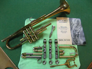 York Feathertouch Trumpet Master Model 1952 - Case, Docs, Giardenelli MP