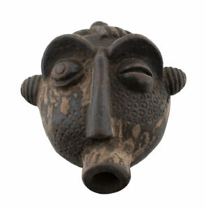 Masquette Fetish Passport Art African Terracotta Mask Divination 16947