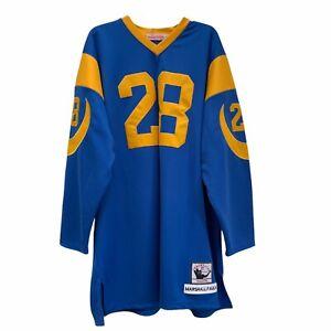 Mitchell & Ness Marshall Faulk St. Louis Rams NFL Throwbacks Jersey Size 54