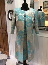 Gorgeous Lizabella Turquoise Special Occasion Size 16 Dress & Coat New