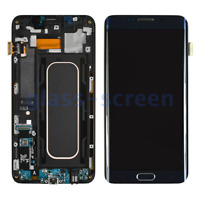 Samsung Galaxy S6 Edge Plus G928A LCD Screen Digitizer Frame Gold Black