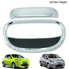 Tailgate Handle Bowl Cover Chrome FITT To Mitsubishi Mirage Space Star 12 - 2017