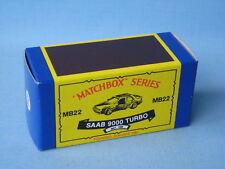 Matchbox Saab 9000 Turbo Vintage Copy Empty Box Only No Model