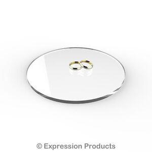 Acrylic Cake Board Display Stand Disc - Round 5mm Thick - Wedding, Birthday etc