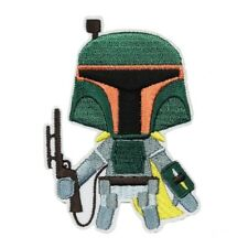 Star Wars Boba Fett Patch Bounty Hunter Emoji Embroidered Iron On Applique