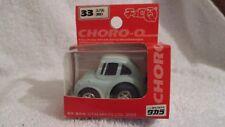 Takara Choro Q #33 VW Beetle Sunroof  light blue. Pull Back Motor.