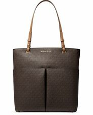NWT MICHAEL Kors Signature Bedford LG Top Zip North South Tote Brown MSRP $228