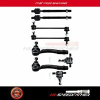 8pc Front Suspension Kit Ball Joint Tie Rod Sway Bar  For 05-10 Kia Sportage 2WD