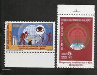 Malagasy Republic SC # 549 World Health day, 577 Malagy 1st Anniv . MNH