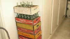 Coca Cola Bottles and Crates , Old , Rare , 24 Bottles and Crate