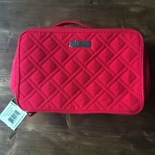 VERA BRADLEY Large Blush and Brush Makeup Case in Canyon Sunset Red Travel NWT