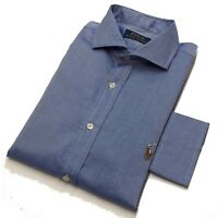 Polo Ralph Lauren Mens Shirt Blue Long Sleeve Pony Embroidered M