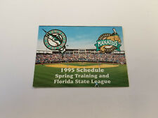 Brevard County Manatees/Marlins Spring Training 1995 Baseball Pocket Schedule