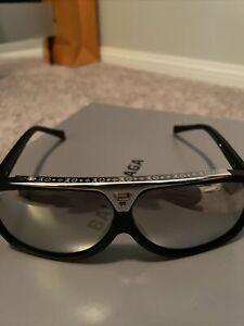 Louis Vuitton Evidence Sunglasses White Gold Rare Matte Black Chrome Lenses