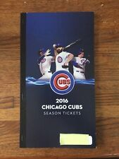Chicago Cubs 2016 Season Tickets Book Complete And Mint