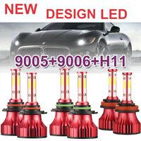 Combo 4-Side CREE 9005+9006 3000W 692000LM LED Headlight Bulb Hi-Low Lamp 6000K