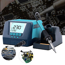 Digital Lcd Soldering Station Iron Hot Air Heat Gun Desoldering Rework Station