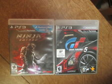 PS3  NINJA GAIDEN 3 BRAND + GRAN TURISMO 5,2 GAME LOT ALL COMPLETE