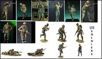 Unpainted 1/35 US Soldiers Military War Resin Figure Model Kit Unassembled
