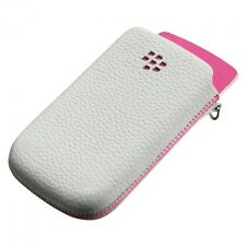 ETUI CUIR VERITABLE BLANC  BLACKBERRY ACC-32840-301 TORCH 9800 ET 9810