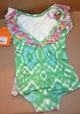 NEW MASALA Swim Bathing Suit Girls Flutter One Piece Ananya Floral Pink 3Y NWT