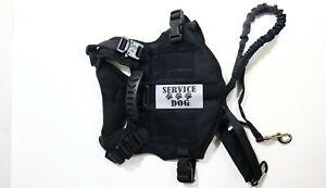 Service Dog Pet Vest Harness Adjustable Strap With Leash / Handle Size M