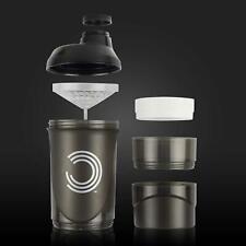 Proteína Coctelera Proteína Mixer Malteada Beber Botella con agua de almacenamiento de 2 Gimnasio