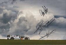 Neel Jani, Marc Lieb, Romain Dumas Hand Signed Porsche 919 Hybrid Photo 12x8 11.