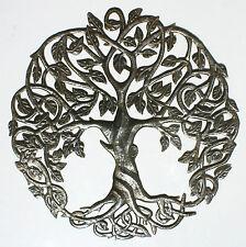 Árbol de la Vida hecho a mano de metal reciclado arte decoracion de pared 60cm