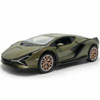 1:32 2019 Lamborghini Sian FKP 37 Supercar Model Car Diecast Toy Vehicle Green