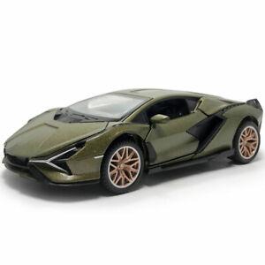 1:32 2019 Lamborghini Sian FKP 37 Modellauto Die Cast Spielzeug Pull Back Grün