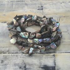 Natural Abalone/Paua Shell Nuggets 10-16 x 6-9 mm Free Postage Oz Seller