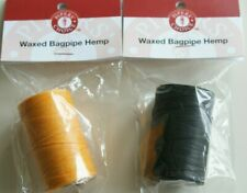 Pipers Choice Yellow Waxed & Black waxed hemp for Highland Bagpipes