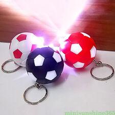 Mini Luminous Football Keychain Soccer Ball Pendant Keyring Unisex Bag Key Decor