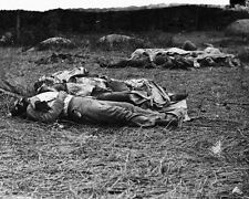 New 8x10 Civil War Photo: Casualties at Center of Gettysburg Battlefield - 1863