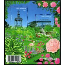 Feuillet F4384 - Le salon du timbre 2010 - Jardins de France - 2009