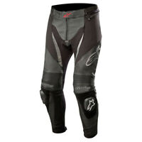 Alpinestars SP X Leather Motorcycle Motorbike Track Race Pants Jeans Black Black