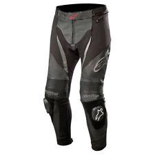 Alpinestars SP X Leather Motorcycle Motorbike Track Race Pants Jeans Black Black