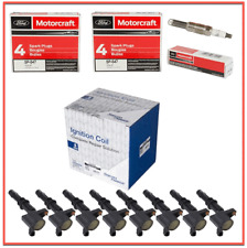Set (8) FORD Spark Plugs Motorcraft SP547 & (8) Spectra Premium Coils 4.6 V8