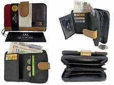 Leather Coin Purses for Women with Credit Card